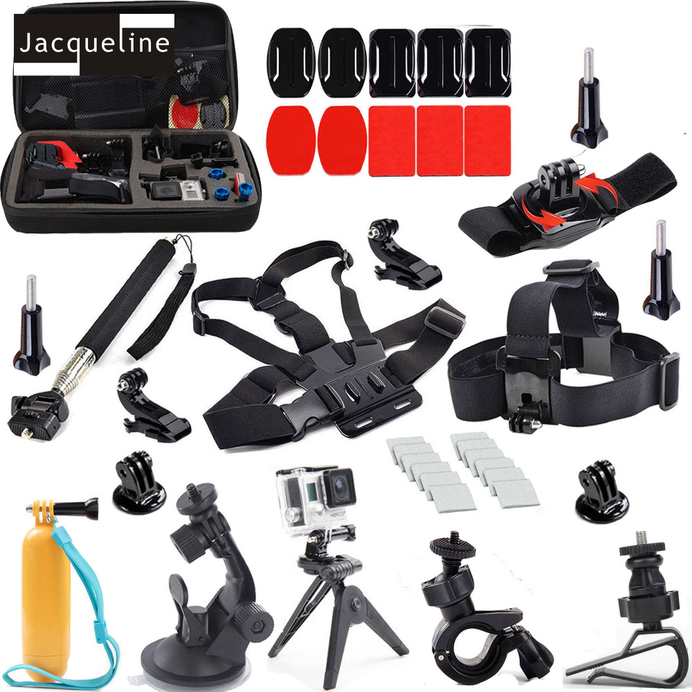Jacqueline for Accessories Outdoor Sports Kit Travel Bag Monopod for Go Pro Hero 6 5 4 hero 3+ 3 2 for SJCAM 4000 SJ5000 go travel travel accessories 332 dg