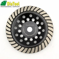 DIATOOL 7/180mm Diamond Spiral Turbo Grinding Cup Wheel, Bore 16mm For Concrete, Brick Grinding