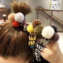 Cute Women Hair Ornament scrunchy Headband Girls Gum for Double Layer Elastic Band
