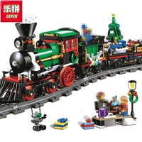 Lepin 36001 Creative Series The Christmas Winter Holiday Train Set Children Educational 770Pcs Building Blocks Bricks