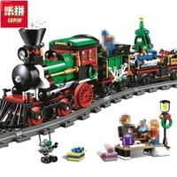 Lepin 36001 Creative Series The Christmas Winter Holiday Train Set Children Educational 770Pcs Building Blocks Bricks