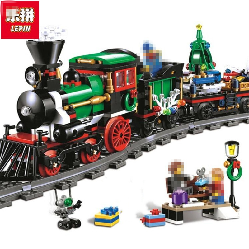Lepin 36001 Creative Series The Christmas Winter Holiday Train Set Children Educational 770Pcs Building Blocks Bricks Toys the perfect holiday