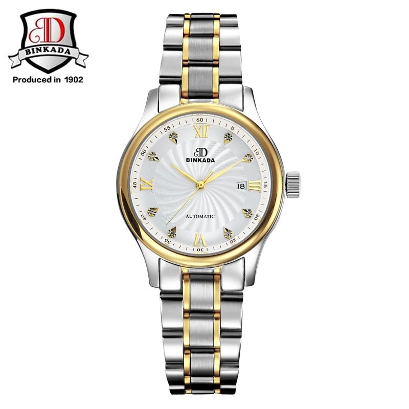 BINKADA Fashion Luxusní Dámské hodinky Sapphire Steel Vodotěsné - Dámské hodinky