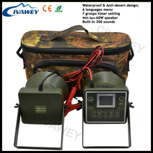 2pcs 60W speakers Canada Goose caller Quail Snow Geese firrie caller hunting MP3 player hunting decoy bird caller with timer(China)