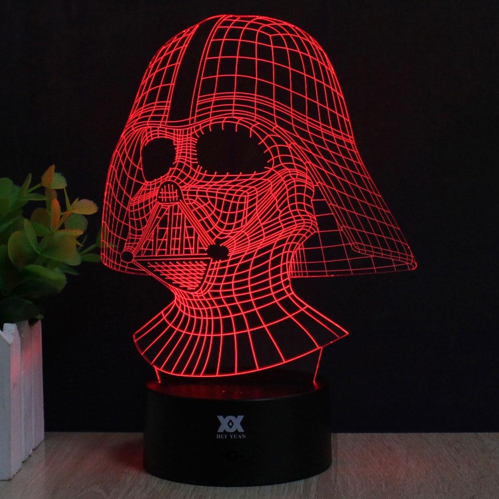 Zvaigžņu karu Anakin Skywalker 3D lampa Darth Vader LED - Nakts gaismas - Foto 2