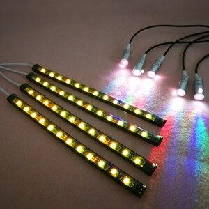 Image 4 - Led araba ayak ortam ışığı ve 3mm 9M kablo LED araba Fiber optik ışık müzik kontrol cihazı App iç dekoratif atmosfer ışıkları