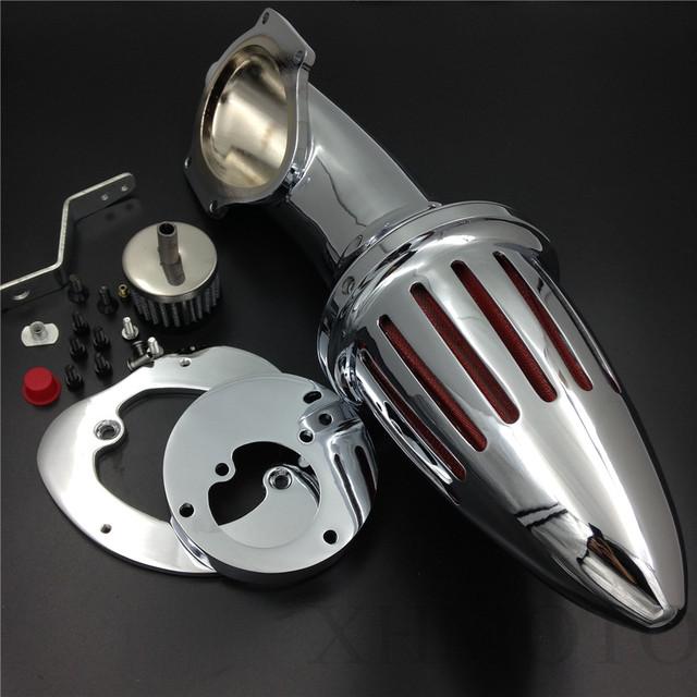 Frete grátis peças da motocicleta do Aftermarket Air kit filtro intake Cleaner para Honda VTX1300 VTX 1300 1986-2012 CROMADO