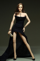 Mnotht Personnalisé 1/6 Noir sans bretelles robe Sexy Robe Longue Vêtements Fit moyen Poitrine Grosse Poitrine Pour PH HT Corps En Acier Vente Aux Enchères l30