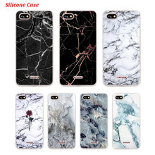 Silicone Phone Case Marble and Flowers for Xiaomi Redmi S2 Note 4 4X 5 5Pro 5A Plus 6 6A 7 Pro Cover