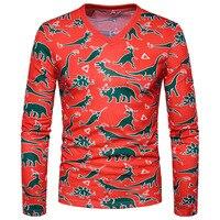 Mannen T-shirt Jas Groothandel Fashion Casual Persoonlijkheid 3D Animal Print Lange Mouwen T-shirt mannen Herfst Winter T-shirt XT20
