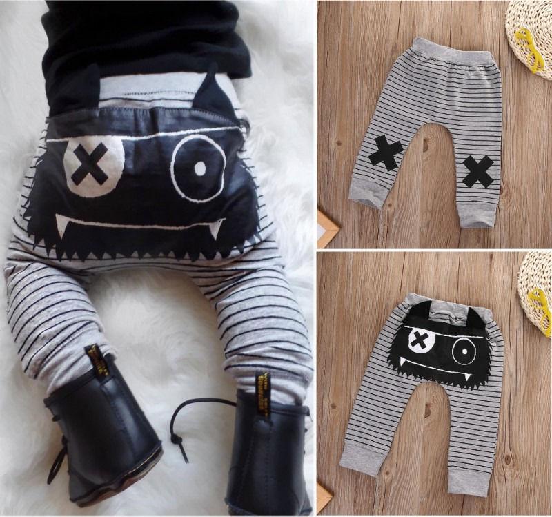 New-Infant-Baby-Boys-Girls-Warm-Cotton-Striped-Monster-Corss-Sport-Bottom-Pants-Leggings-Harem-Pants-Boys-Pants-0-2Y-1