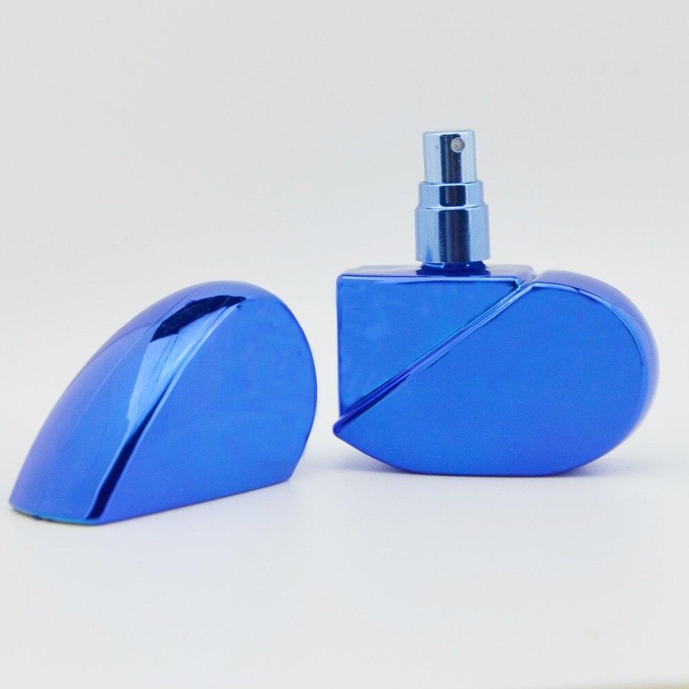 Quality Of 1 Piece 25ml Heart Design Refillable Portable Mini Botol Parfum Atomizer Spray Perfume Bottle Traveler Metal Empty In Bottles From