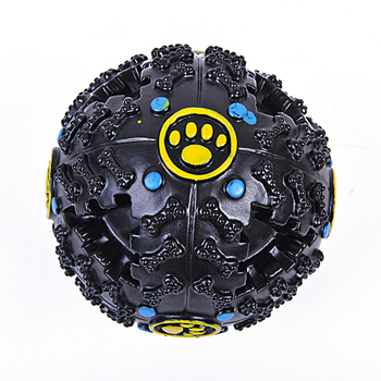 Pet Dog Treat Trainning Chew Sound Food Dispenser Toy Squeaky Giggle Ball 1