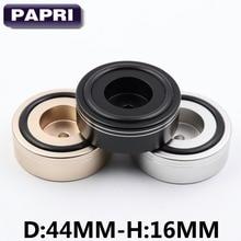 Papri 4 шт. 44-16 мм обработанные твердые Алюминий dac-проигрыватели Радио CD-плееры AMP Динамик кабинет изоляции Средства ухода за кожей стоп pad стенд