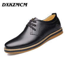 Mens Shoes Casual 2016 Men Oxfords, Lace-Up Business Men Flats Shoes,  Leather Men Dress Shoes