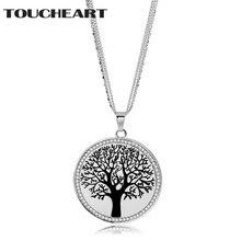 Винтажное ожерелье toucheart из нержавеющей стали серебряного