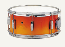 Snare Drum Birch Shell 14″*6.5″ Orange Painting Percussion Musical instruments Free shipping