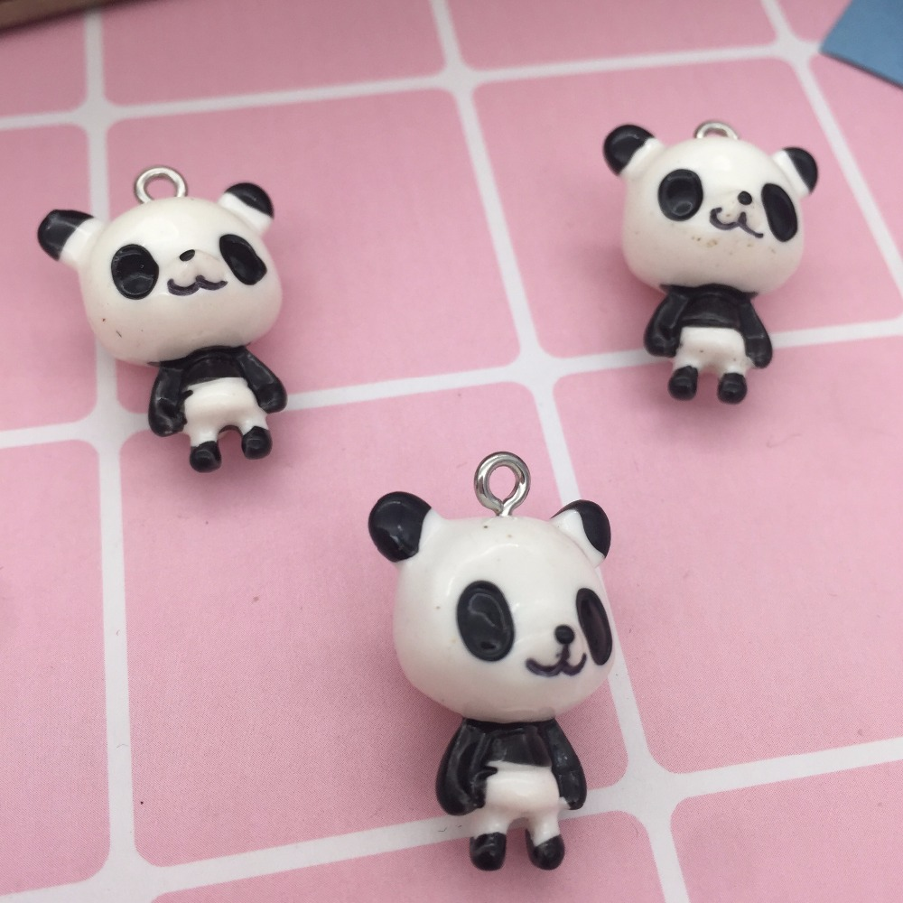 Let's Start!Cute Resin Animal Charms. 3D Resin Kawaii,standing Panda,animal Three-D Pendant For Key Chain/phone Decoration,DIY.