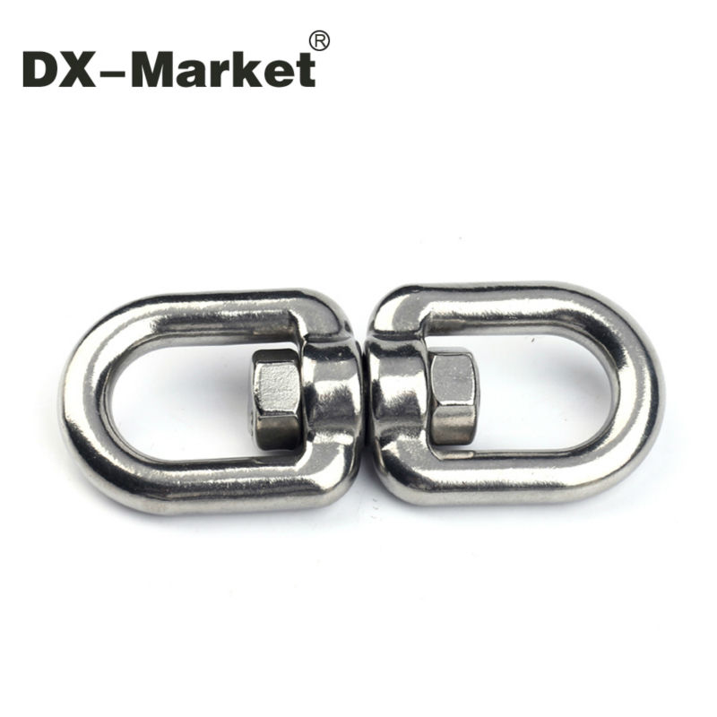 M16, 16mm  double ring swivel snap , sus304 stainless steel rigging european swivel eye and eye   snap owner 52567 16 hooked snap swivel 9 шт