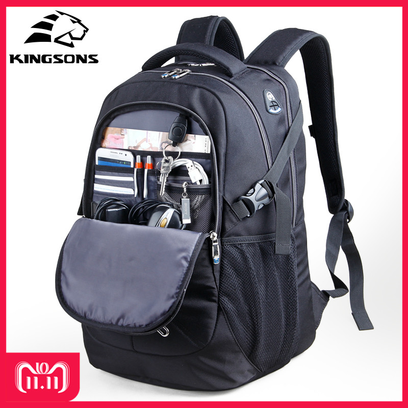 все цены на 10% Off Kingsons 15.6 inch Shockproof Men Laptop Backpacks Large Capacity Wear-resistant School Bags Business Travel Backpacks