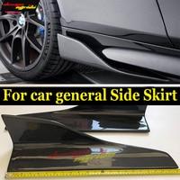 For BMW 6 Series F12 2 Door 640i 650i Carbon Fiber Bumper Side Skirt Splitters M tech M Sport M6 Direct Fix with screws 2012 17