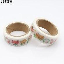 JBFISH 1pcs Lovely Animals Washi Tape DIY Masking Paper Tape Decorative Sticker Tape School Office Supply  8130