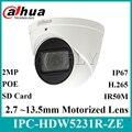 Dahua оригинальный IPC-HDW5231R-ZE 2MP WDR IR Eyeball Starlight камера Моторизованный объектив IR50m Встроенный микрофон IPC-HDW5831R-ZE