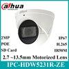 Dahua Originele IPC-HDW5231R-ZE 2MP WDR IR Eyeball Starlight Camera Gemotoriseerde Lens IR50m Ingebouwde MICROFOON IPC-HDW5831R-ZE