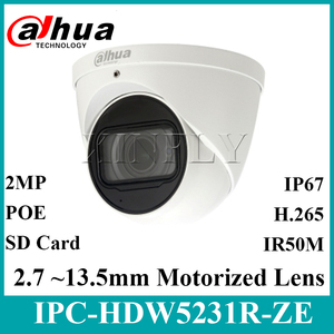 Image 1 - Dahua Originele IPC HDW5231R ZE 2MP WDR IR Eyeball Starlight Camera Gemotoriseerde Lens IR50m Ingebouwde MICROFOON IPC HDW5831R ZE