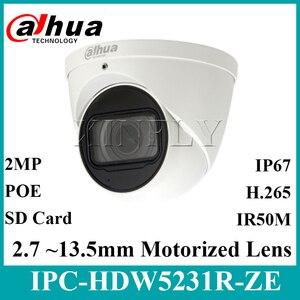 Image 1 - Dahua Orijinal IPC HDW5231R ZE 2MP WDR IR Gözküresi Starlight Kamera motorlu lens IR50m dahili mikrofon IPC HDW5831R ZE