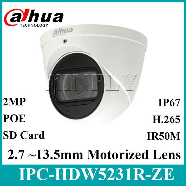 Dahua Orijinal IPC HDW5231R ZE 2MP WDR IR Gözküresi Starlight Kamera motorlu lens IR50m dahili mikrofon IPC HDW5831R ZE