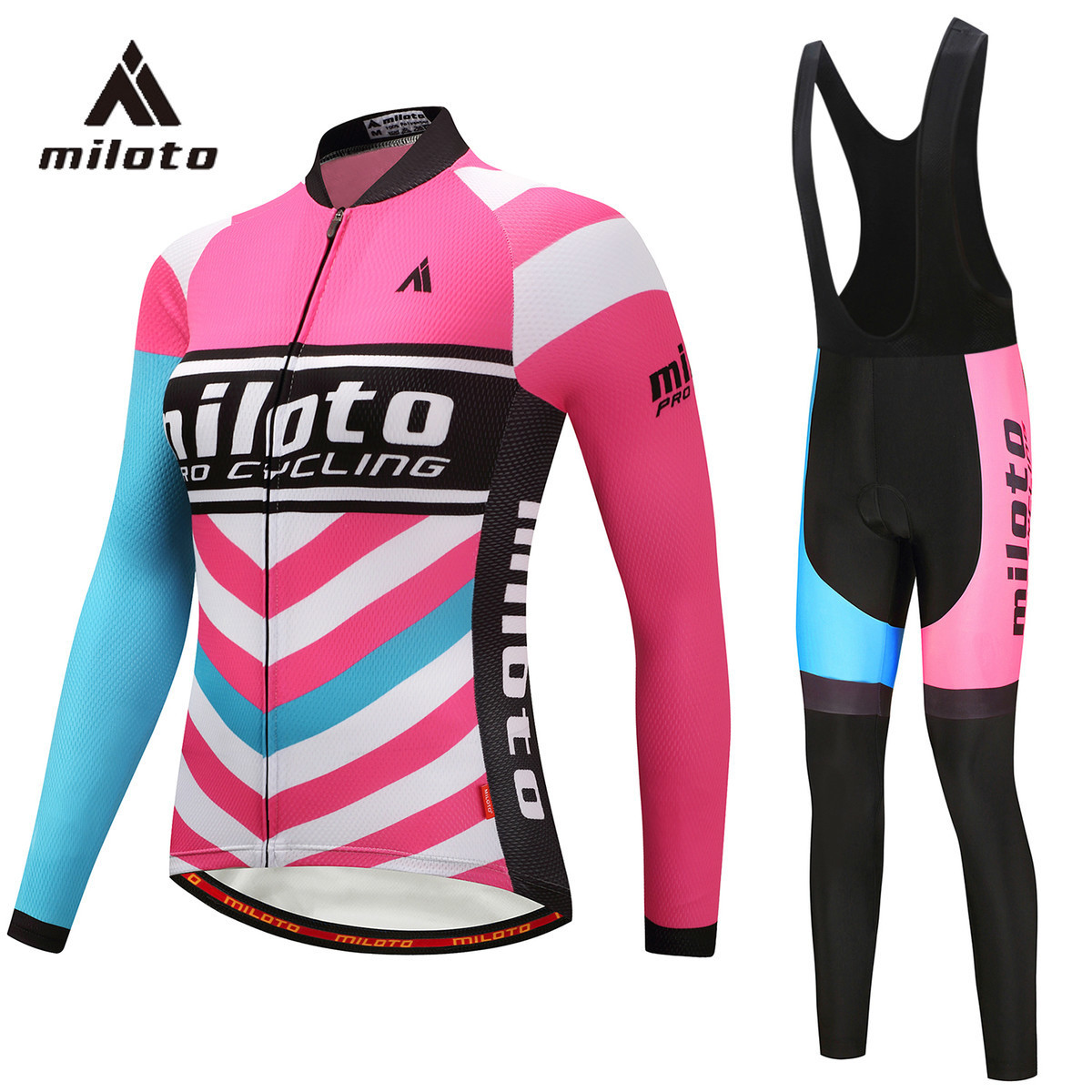 2aaf10004 MILOTO Thin Long Sleeve Cycling Set Women Cycling Uniform GEL Female Clothes  Full Cycling 2018 Bicycle