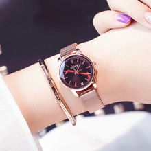 купить Luxury Steel Women Bracelet Watches  Women Marble Watch Fashion Rose Gold Starry Sky Quartz Crystal Wrist Watch relogio feminino по цене 262.67 рублей