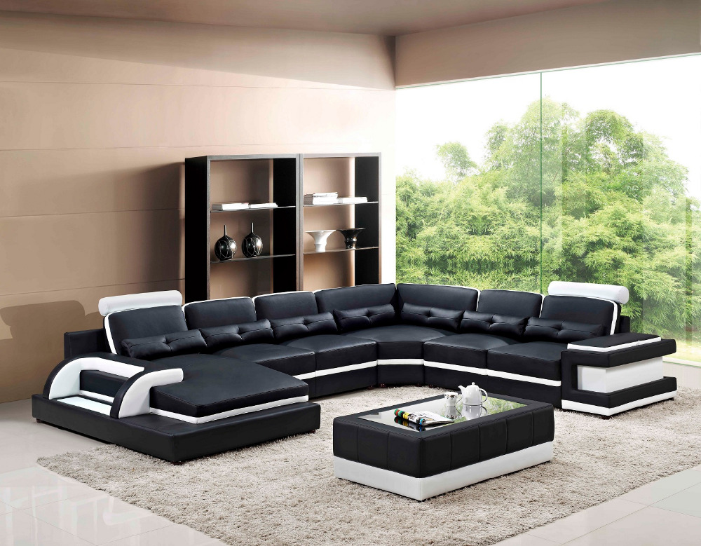 Large Corner Leather Sofa For Modern Sectional