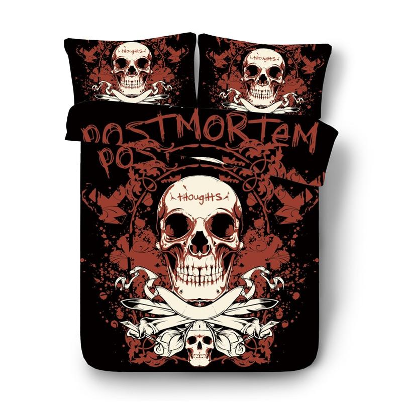 3D Skull Style Bedding Set 3D Print Skeleton Design Duvet Cover Sets EU/AU/US Twin Queen King Size Skull Themed Bed Linen