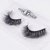Natural Thick Mink False Eyelashes 1 Box 1 Pair Crisscross Messy Realistic Fake Eyelashes Makeup Cotton