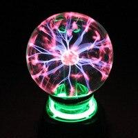 JasopiEt Novelty LED Toys Glass Magic Plasma Ball Toy With Music Sphere Nightlight Magic Plasma Night Lamp Toy 4 5 6 inch
