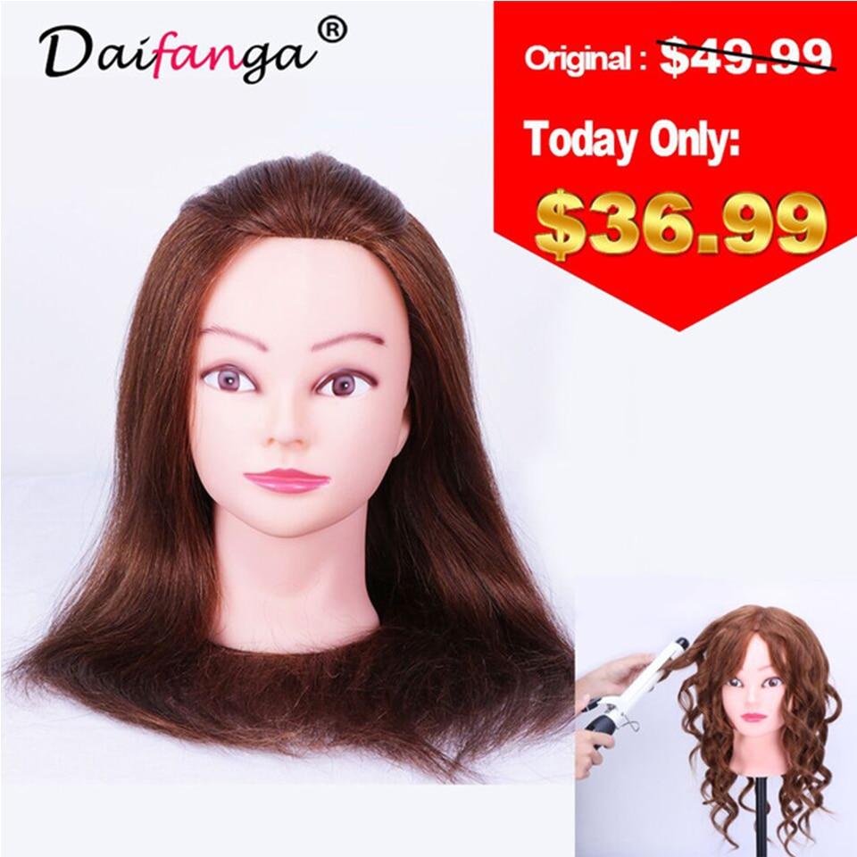 100% natuurlijk haar 100% Human Real Hair Training Head met Pruik - Kunsten, ambachten en naaien