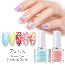 BORN PRETTY Blue Stamping Polish Lacquer 6ml Summer Series Nail Art Plate Printing Oil For Latex