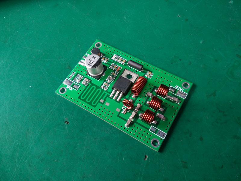 New 15W 70-120Mhz 12v FM amplifier board transmitter FM transmitter board 15W transmitter module high-frequency amplifier lcd32b66 l frequency board amplifier board 40 l2726a nid2x