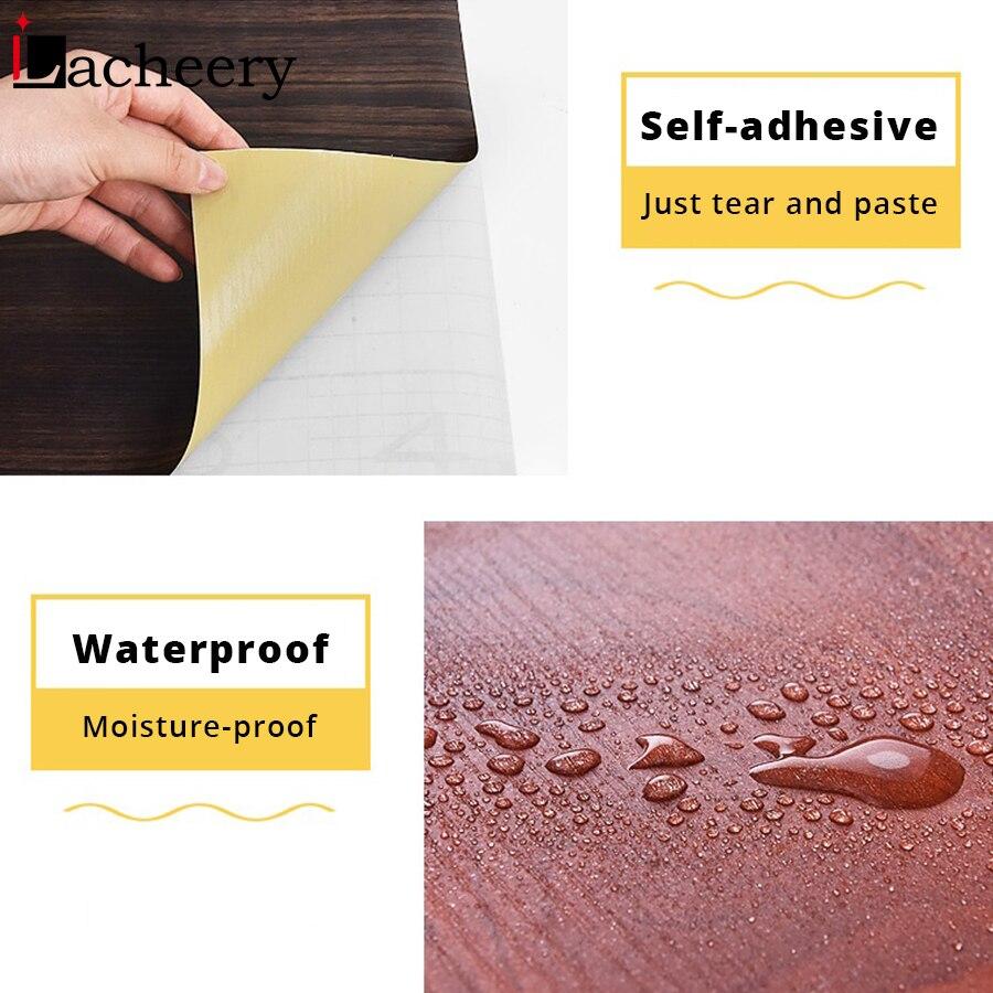 1M/2M Waterproof Wood Vinyl Wallpaper Roll Self Adhesive Contact Paper Doors Cabinet Desktop Modern Furniture Decorative Sticker-5