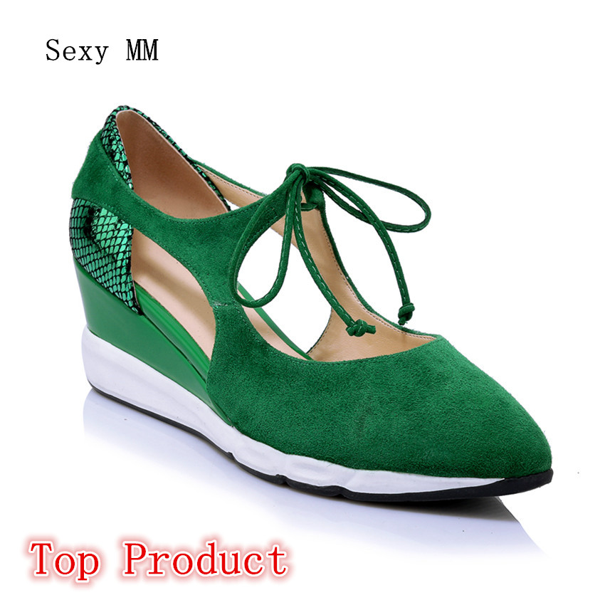 Genuine Leather D'Orsay Wedges Shoes Women Low High Heels Wedge Casual Walking Low High Heel Shoes Top Product nayiduyun women genuine leather wedge high heel pumps platform creepers round toe slip on casual shoes boots wedge sneakers