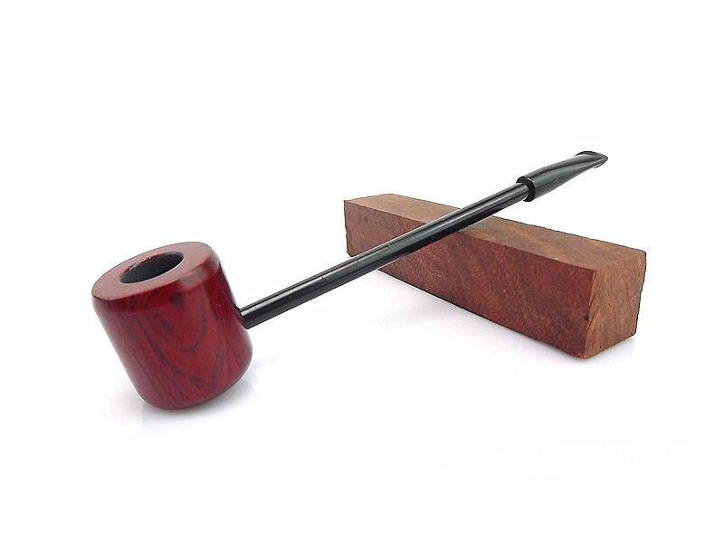 1pc Red Sandal Wood Pipe Popeye Pipe Wooden Smoking Pipe Metal Screen Filter,