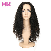 Hair Villa Jerry Curly Brazilian Full Lace Human Hair Wigs With Baby Hair Pre Plucked Remy Hair Glueless Lace Wigs