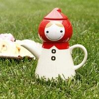 Bonito drinkware resistente de alta temperatura bule de chá de flor potes de cerâmica ferramentas de chá de café caçoa o Presente