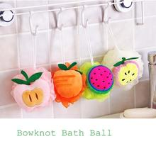 1Pc Candy Color Bath Scrubber Shower Spa Sponge Body Cleaning Scrub Bath Ball Bath Tool Accessory