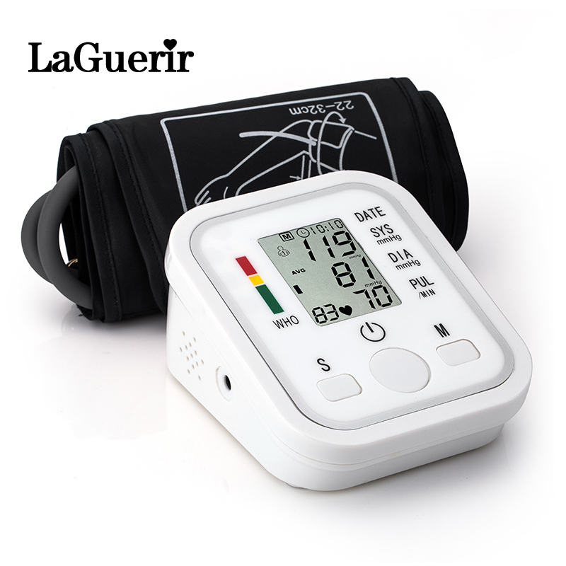 Monitor Tonometer Measuring Heart-Beat-Meter-Machine Arm-Blood-Pressure Digital Home-Health-Care