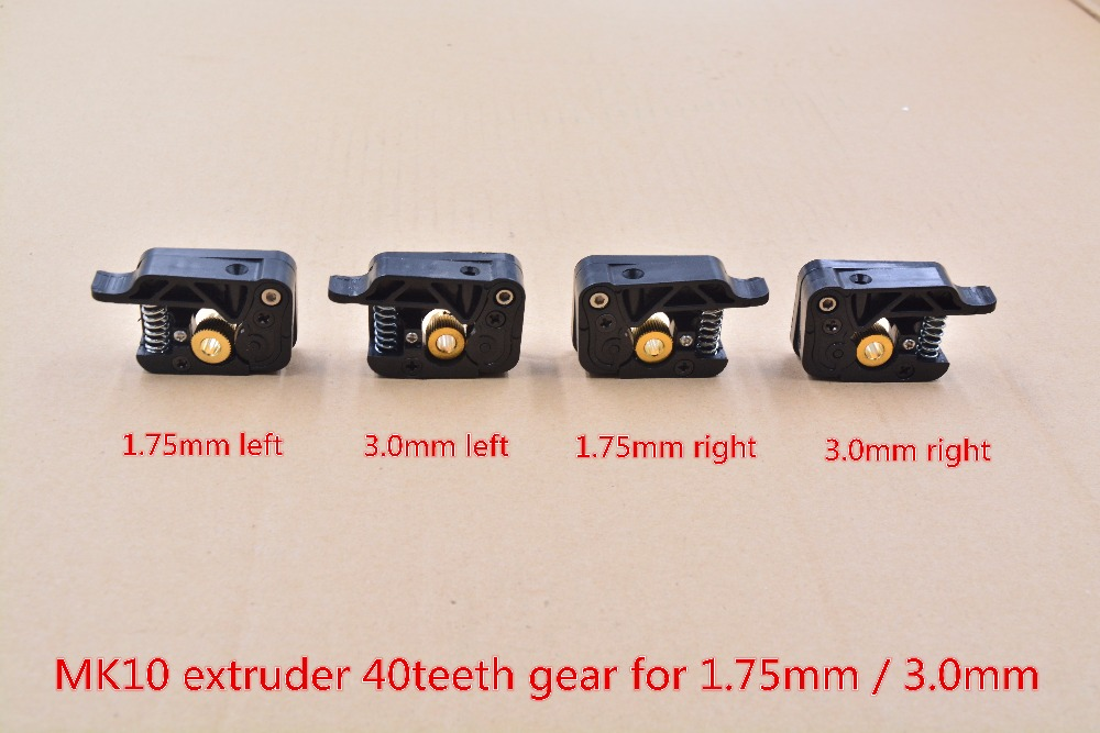 3d Printer MK10 Extruder For 1.75mm Or 3.0mm Consumables Plastic Kit