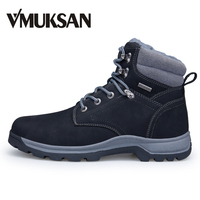 VMUKSAN Men S Winter Shoes Warm Plush Furry Booties Waterproof Mens Ankle Rubber FUR 2016 Rain