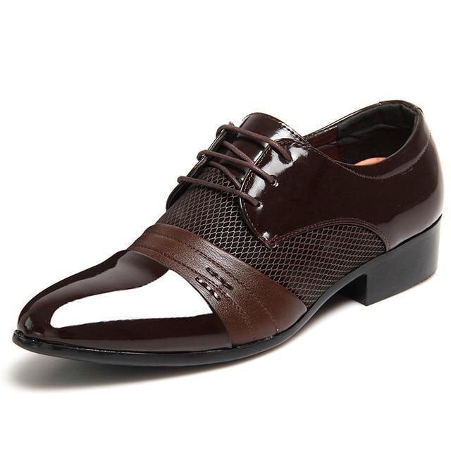 2ae10359d1a Nuevos hombres charol zapatos Casual hombres PRIMAVERA/otoño señaló  Patchwork mocasines para hombre mocasín zapatos